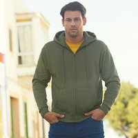 Premium 70/30 hooded sweatshirt jacket