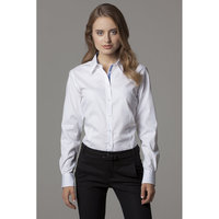 Women's contrast premium Oxford shirt long sleeved