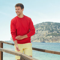 Lightweight set-in sweatshirt