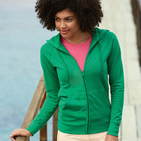 Lady-fit lightweight hooded sweatshirt jacket