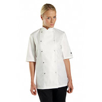 Chef's jacket short sleeve press stud (DC08CS)