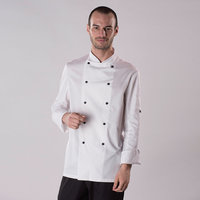 Long sleeve chef's jacket with removable studs (DD20)