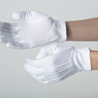 Cotton glove elasticated cuff (DW35A)