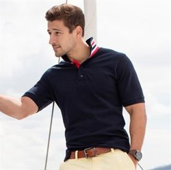 Stripe collar polo