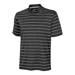 Textured stripe polo