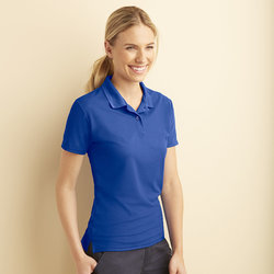 Women's performance double piqué sports shirt