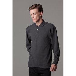 piqué polo long sleeved