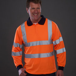 Hi vis long sleeve polo (HVJ310)
