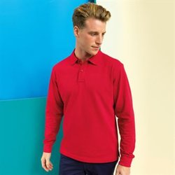 Men's classic fit long sleeved polo
