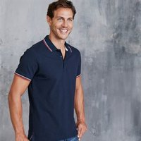 Contrast short sleeve polo