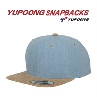 Chambray-suede snapback (6089CH)